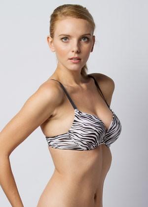 Push up bra zebra print full view