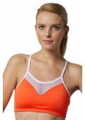 Sports bra orange front view