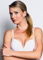 BASIC Push-up Bra (White) Full view